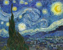 Lærredsprint - Vincent Van Gogh - Starry Night