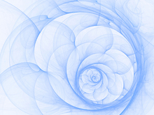 Canvas print - Blue Petal Spiral