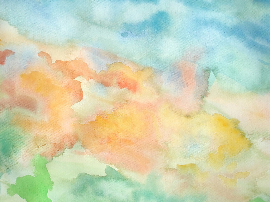 Abstract watercolor sky wall mural photo wallpaper for Abstract mural wallpaper