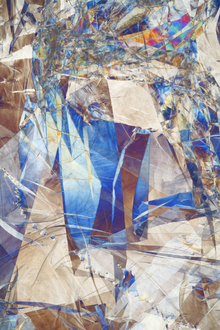 Wall mural - Cracked Glass Abstract