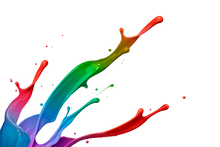 Fotobehang - Colorful Paint Splash