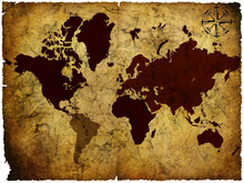 Wall mural - Old Manuscript of World Map