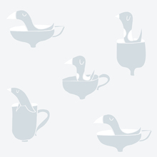 Tapet - Ducks In Cups