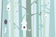 Wall Mural - Birdforest - Green