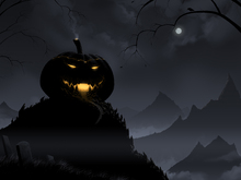 Wall mural - Pumpkin Castle