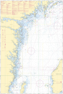 Canvastavla - Sea Chart 72 - Oland - Landsort