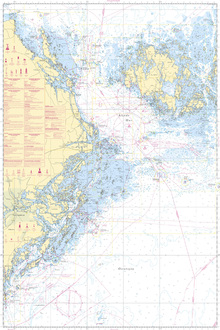Fototapete - Sea Chart 61 - Landsort - Alands Hav