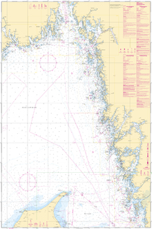 Canvas-taulu - Sea Chart 93 - Skagerrak