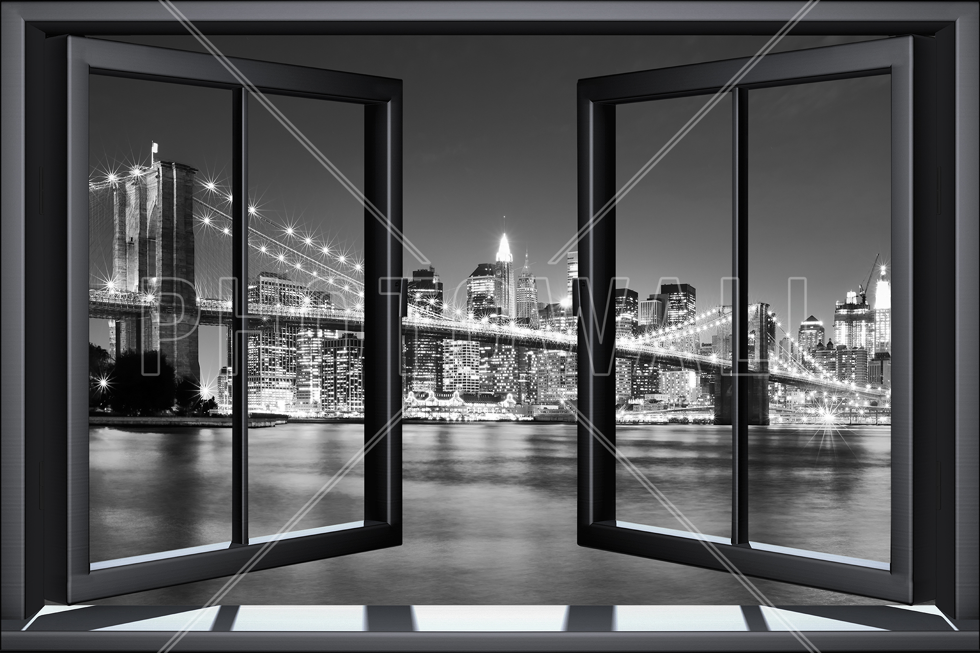 Bright Brooklyn Bridge Through Window Part 54