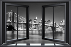 Wall mural - Bright Brooklyn Bridge Through Window