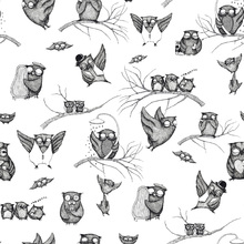 Tapet - Owls Pattern