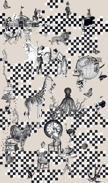 Wallpaper - Circus Side Show - Beige