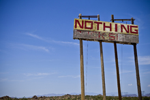 Fototapete - Road Sign - Nothing