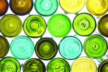 Canvastavla - Colorful Bottle Bottoms
