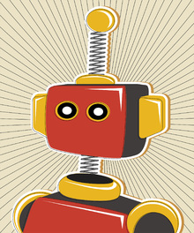 Canvas print - Retro Robot