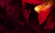 Fototapet - Dragon in Red