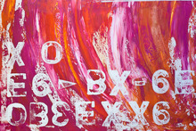 Canvastavla - Abstract Painting Letters