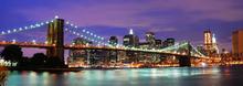 Wall mural - Brooklyn Bridge at Night