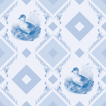 Wall mural - Ducklin Gooseframe - Light blue