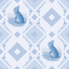 Wall mural - Young Rabbit - Gooseframe Lightblue