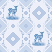 Wall mural - Young Deer - Gooseframe Lightblue