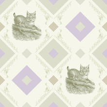 Wall Mural - Lynx - Gooseframe - Green Purple