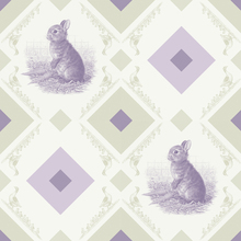 Fototapet - Rabbit - Gooseframe - Green Purple