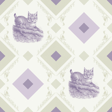 Fototapet - Young Lynx - Gooseframe - Green Purple