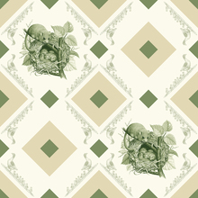 Wall mural - Dormouse - Gooseframe - Green Beige