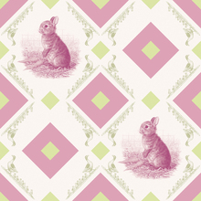 Wall Mural - Young Rabbit - Gooseframe - Pink Green