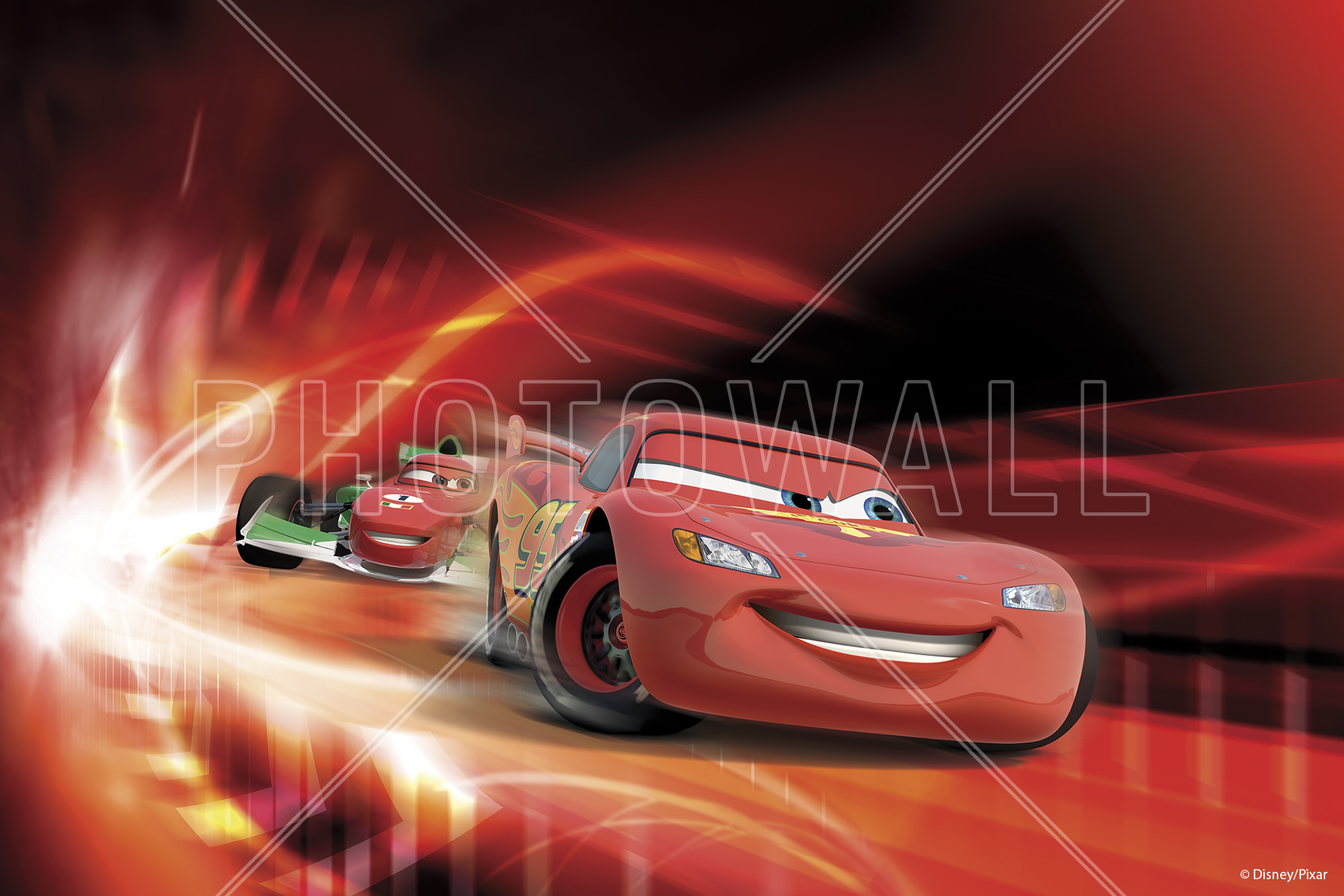 Wall Mural   Cars   Red Race Part 40