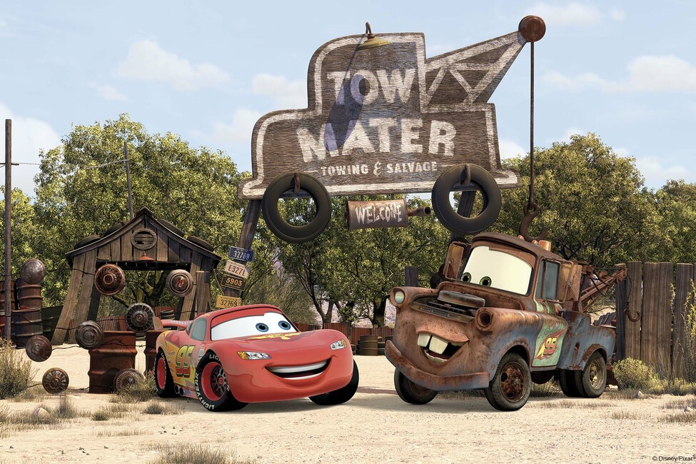 Cars tow mater wall mural photo wallpaper photowall for Cars mural wallpaper