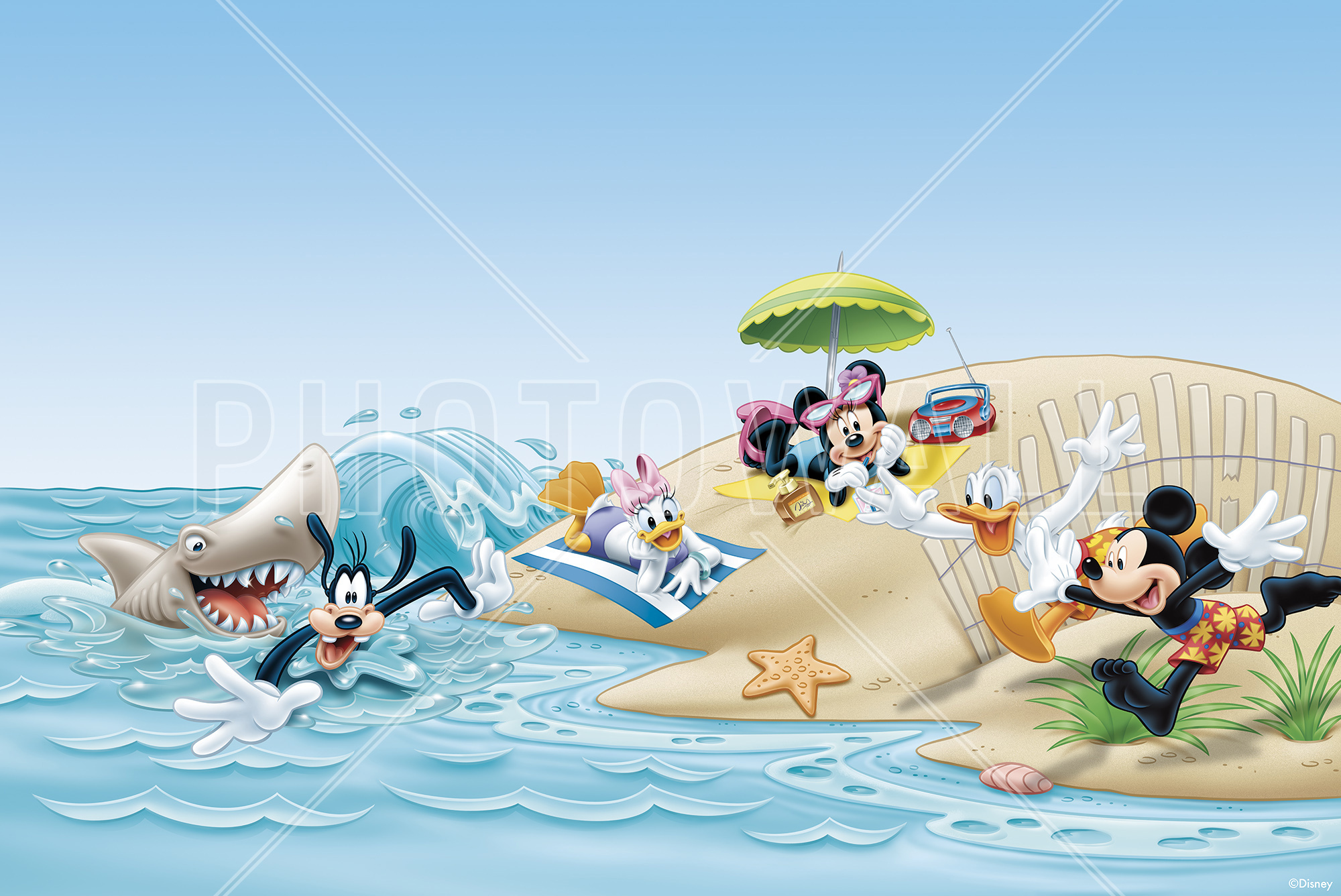 Wall Mural   Mickey And Friends   Beach Part 48