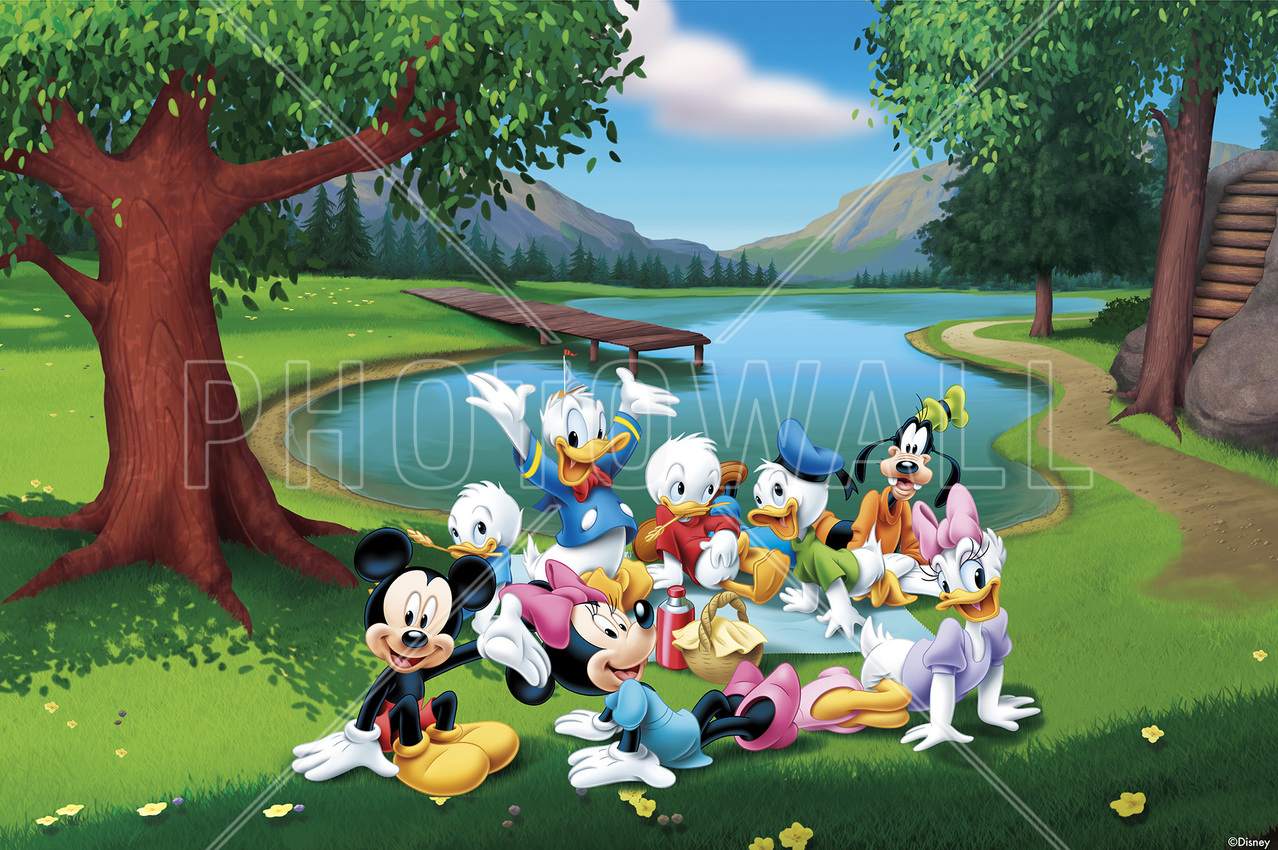 Childrens wallpaper wall murals photowall wall mural mickey and friends park amipublicfo Image collections
