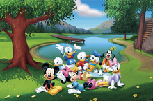 Fototapet - Mickey and Friends - Park