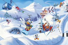 Fototapet - Mickey and Friends - Skiing