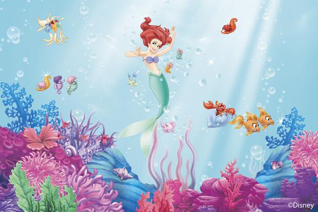 Princess little mermaid wall mural photo wallpaper for Disney ariel wall mural