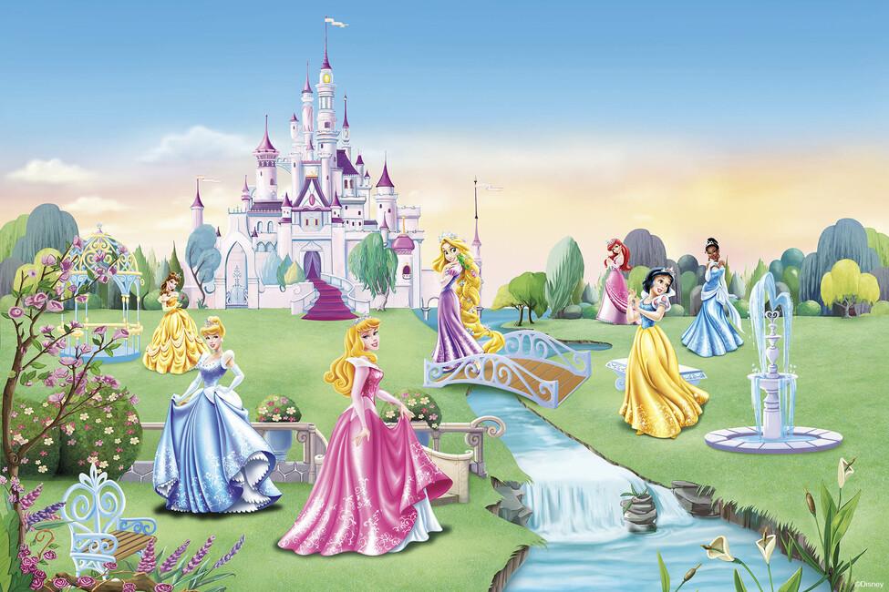 Princess Castle Children Wallpaper Canvas Print