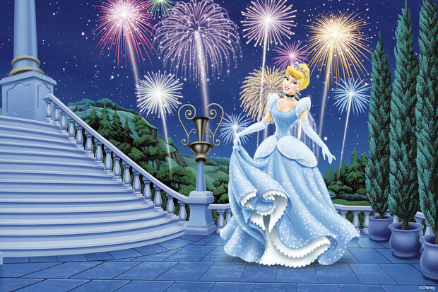 Princess cinderella wall mural photo wallpaper for Cinderella wall mural