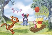Valokuvatapetti - Winnie the Pooh - Butterflies