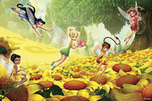 Wall mural - Fairies - Flowers