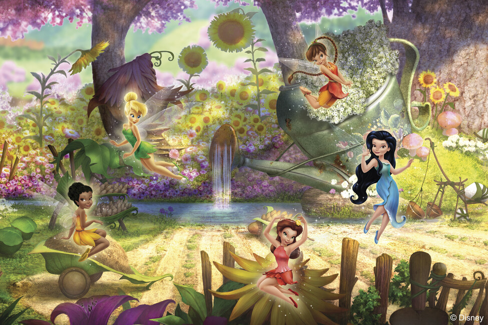 Fairies its a fairys world wall mural photo for Disney fairies wall mural