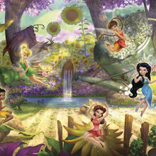 Disney wallpaper wall murals for Fairy garden mural