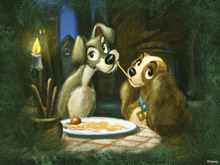 Fototapet - Disney Classics - Lady and the Tramp