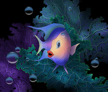 Wall Mural - Kissy Fish