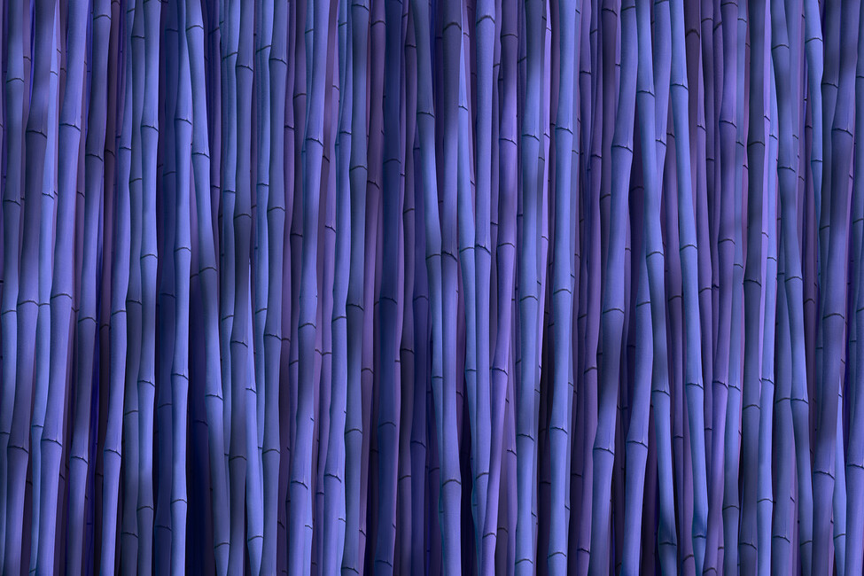Bamboo amethyst wall mural photo wallpaper photowall for Bamboo mural wallpaper