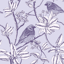 Tapet - Finch - Purple