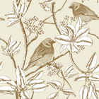 Wallpaper - Finch - Beige