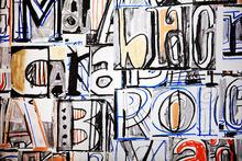 Canvas-taulu - Funky Letter Graffiti