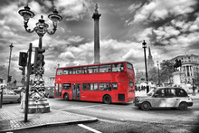 Lerretsbilde - London Bus - Colorsplash